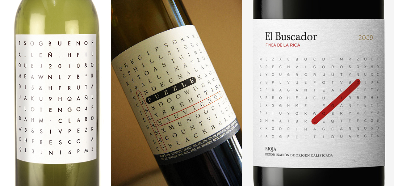 Word Search Wine Labels | Beach