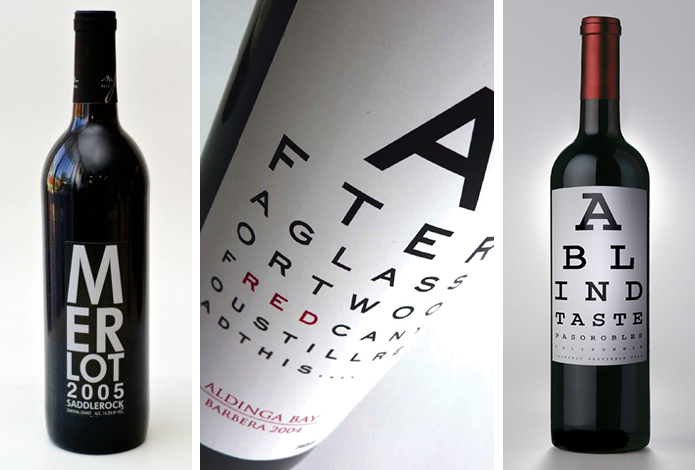 Eye Chart Wine Labels The