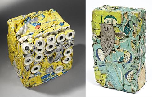 césar baldaccini s compressed packaging sculptures beach