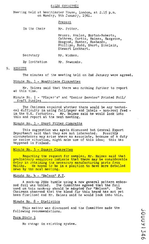 1961-BAT-January9SalesCommitteeMeeting