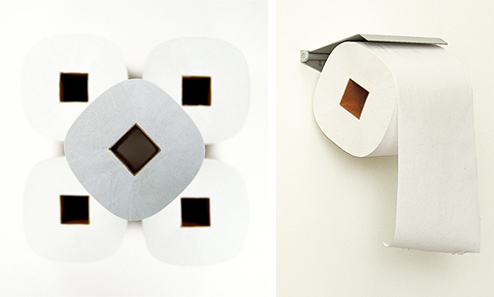 redesigned toilet paper by Shigeru Ban