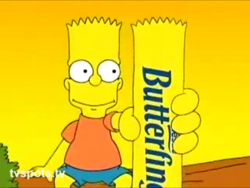 The Bart Simson Butterfinger Anthro Packet Beach