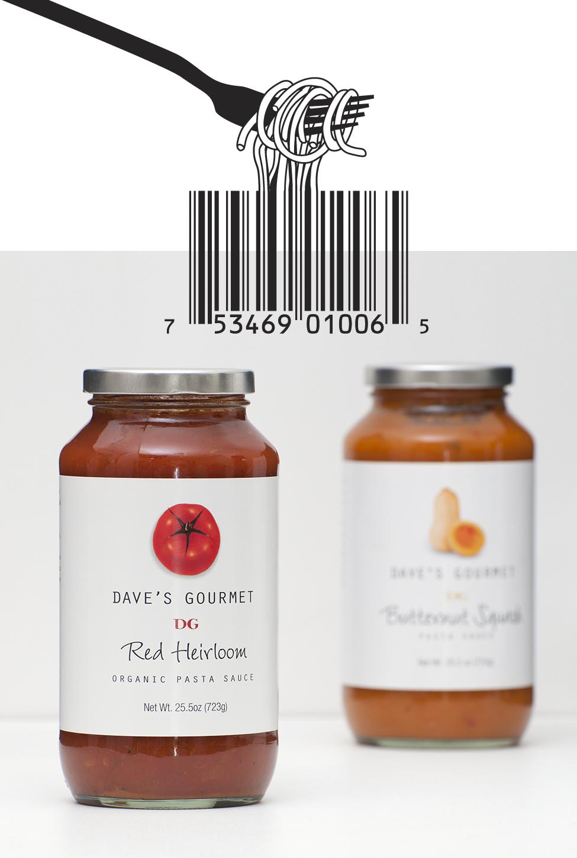 Dave's Gourmet Spaghetti Barcode