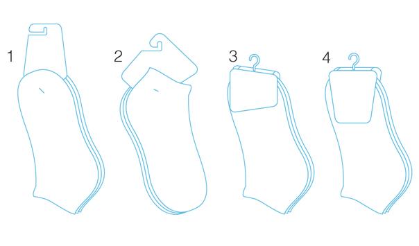 NewBalance-socks footwear structural packaging design