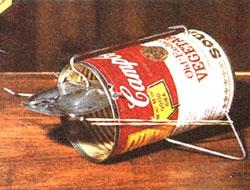 Campbells soup can mousetrap