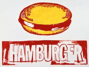 Warhol eats hamburger