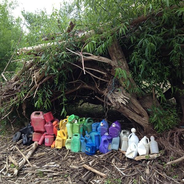BigJugRainbow bottle sculptures