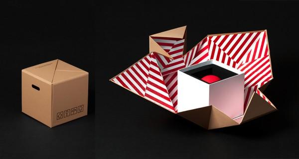 Sad Toy polyhedral folding carton