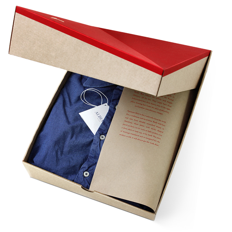 Packaging Structure The Optimist Shirt Box Beach