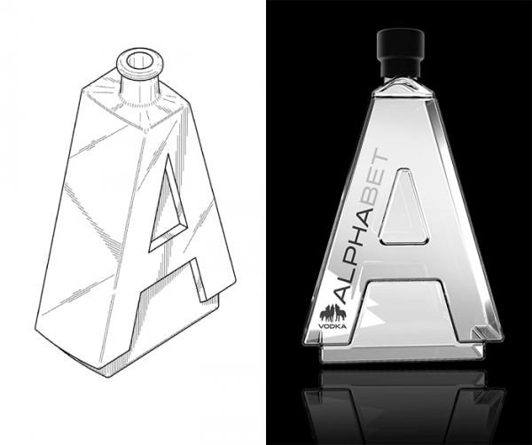 Alphabet-Vodka-A-bottle letter shaped bottles