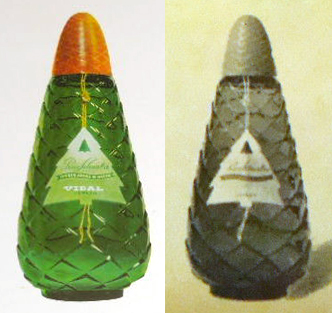 Pino-Silvestre-color pine-cone shaped bottle
