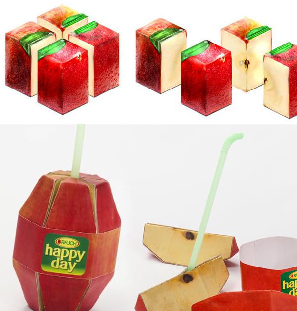 Polyhedral Apple Slice Juice packs