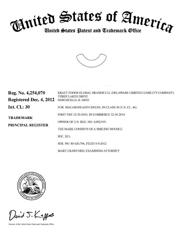 Kraft-Smiling-Noodle-Trademark