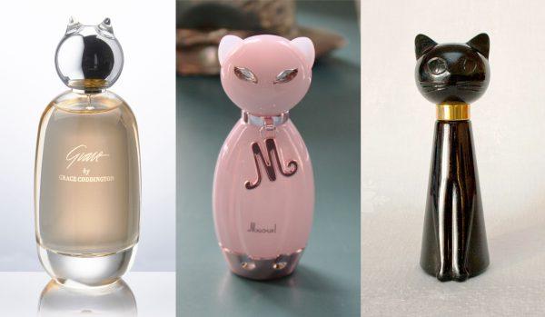 3 Pussycat perfume bottles