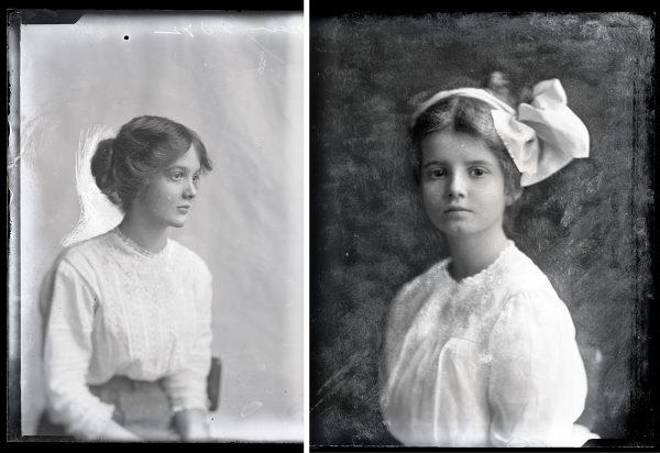 Jane Reece portraits of Sarah and Mary Dickson