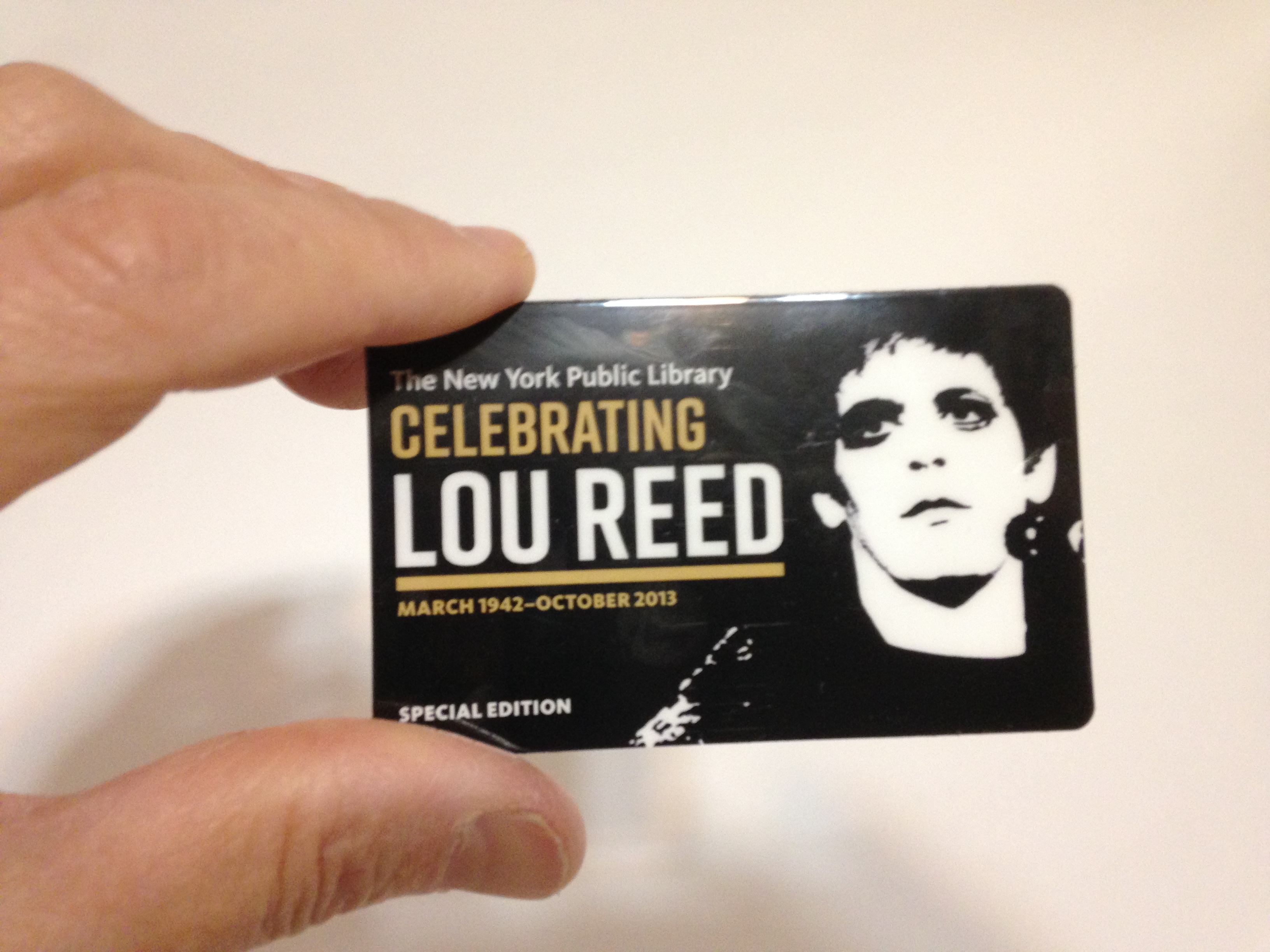 Lou Reed library card