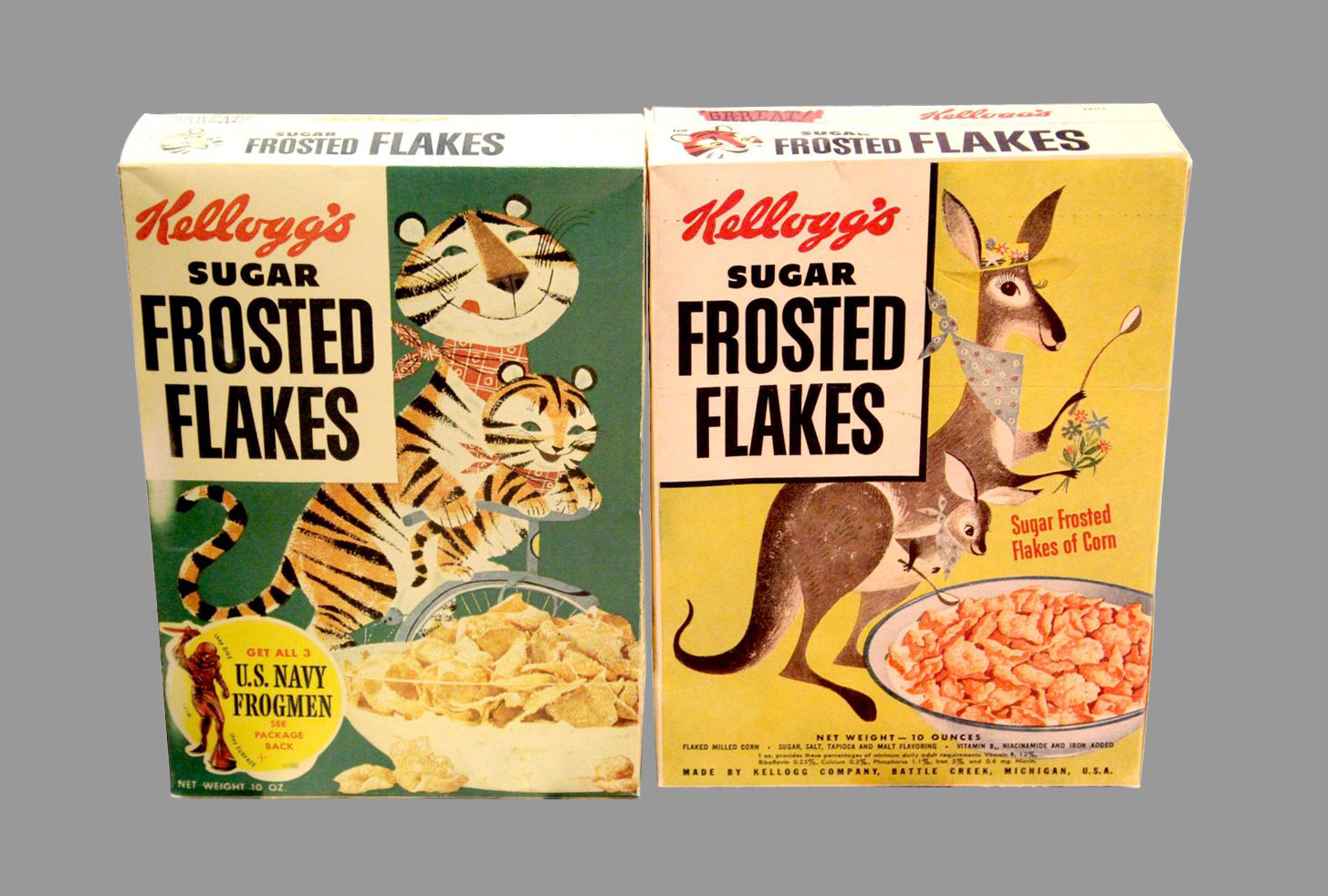 Tony and Katy: 2 members of the Provensen Frosted Flakes Zoo