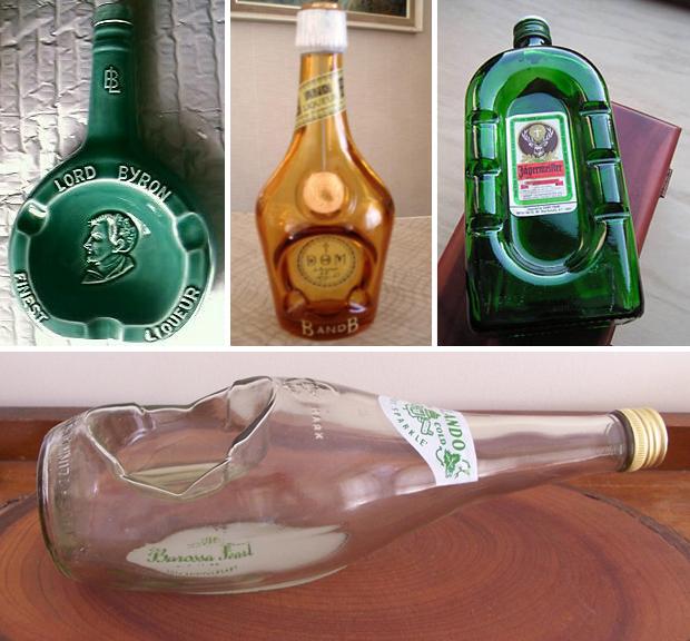 Bottle-ashtrays