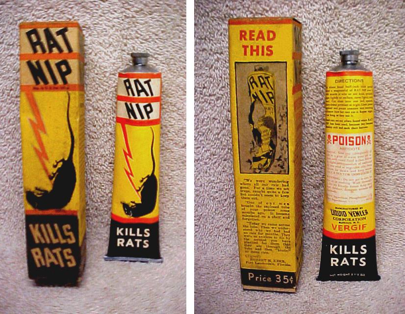Rat Nip torn up tube of Rat-Nip is