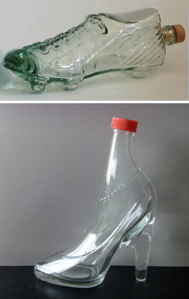 Male-Female shoe bottles